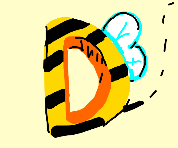 Drawception D but a bee