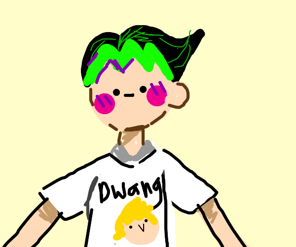 Otaku with a Jojo shirt