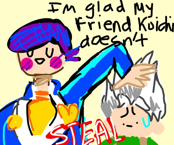 Josuke and Koichi being friends
