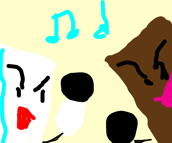 Chocolate and ice cube singing