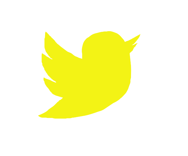 The Twitter Logo But Yellow