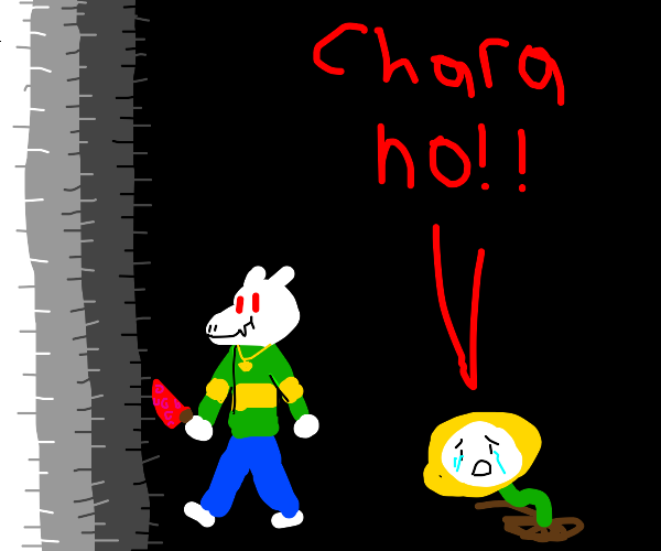 Chara steals Asriel's body and becomes him