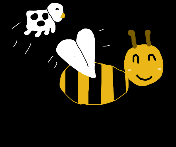 the cow jumps over the bee