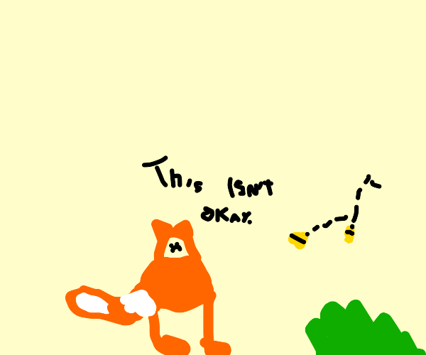 Fox doesn't like the buzzing bees