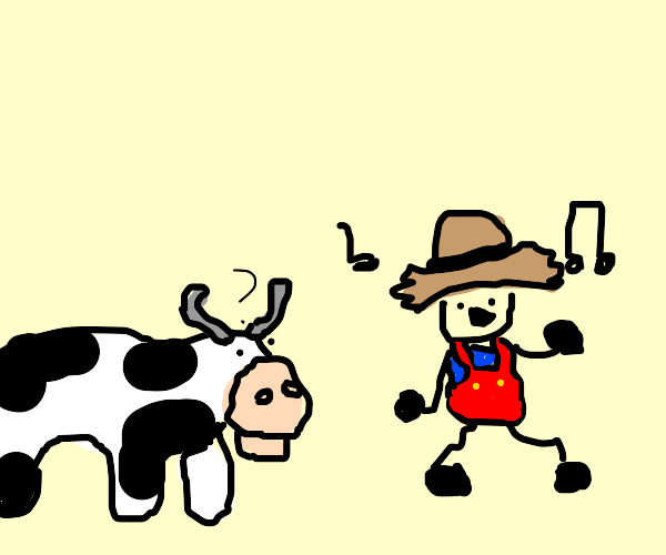 Singing farmer confuses his animals