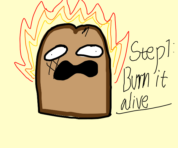 The process of making toast