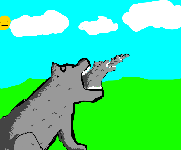 Wolf eating a wolf eating a wolf (etc.)