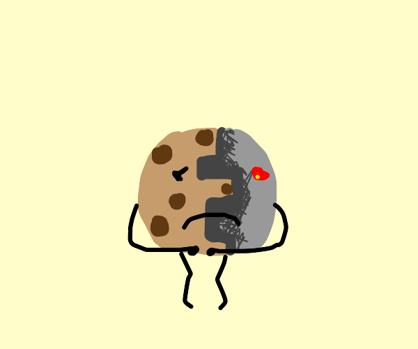 Depressed cyborg cookie