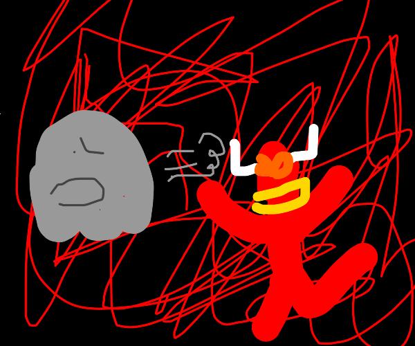 Ghost runs from devil