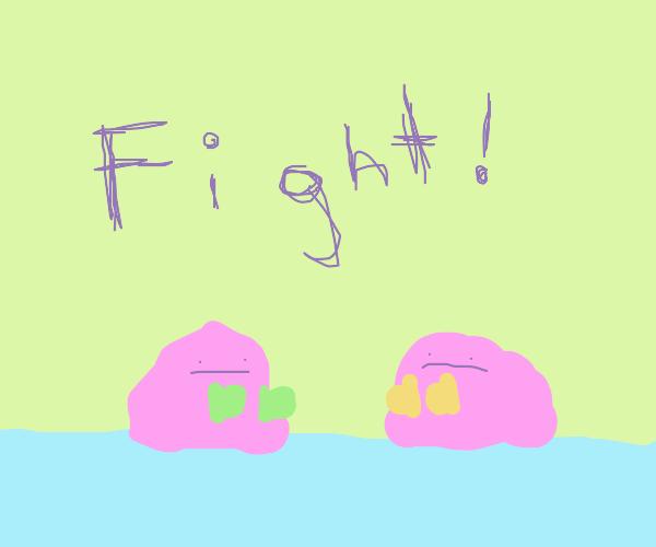 Slime blob boxing match