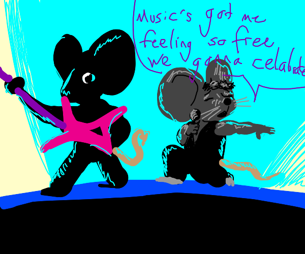 mice play One More Time by Daft Punk