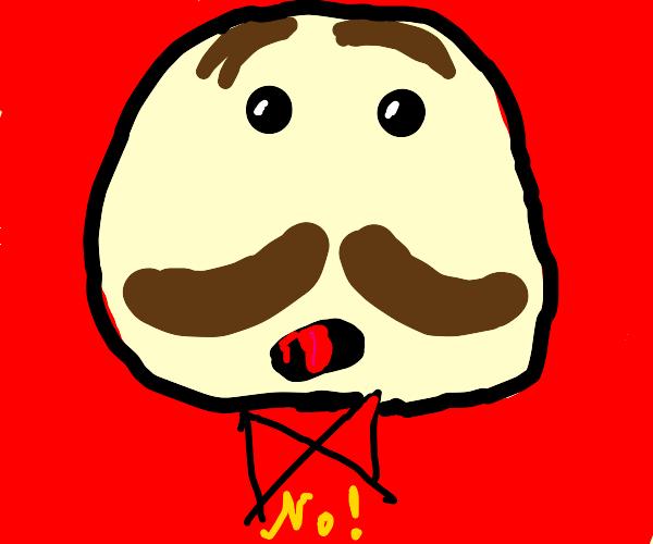 Pringles man yells NO