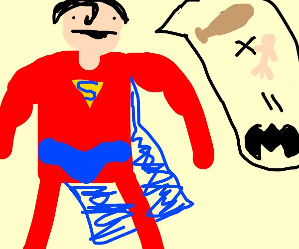 Superman makes a Batman Pun