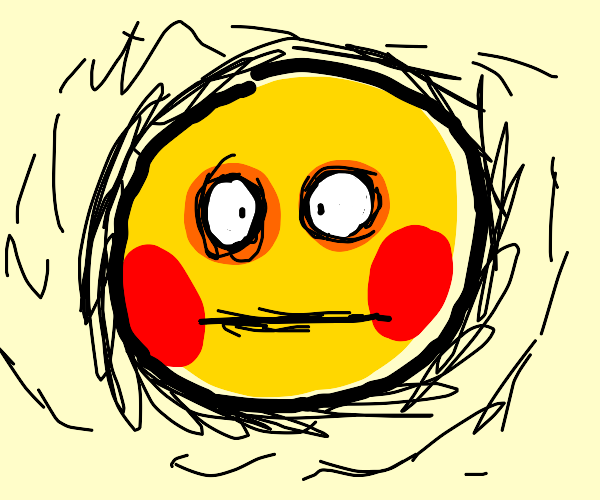 Cursed emoji blushing