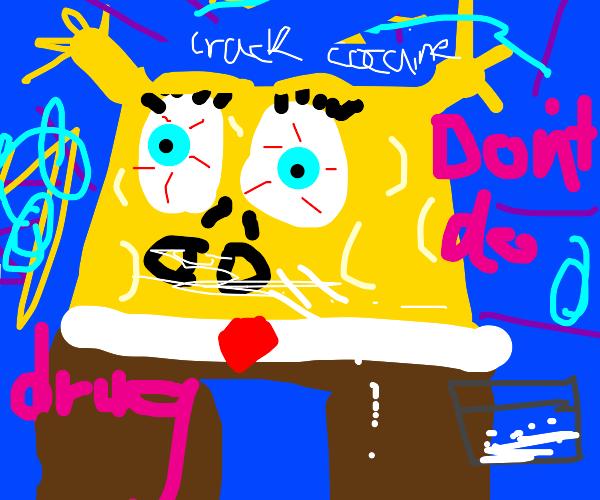 SpongeBob except on that cocaine high