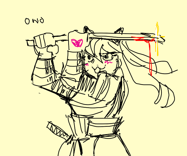 cat girl samuri