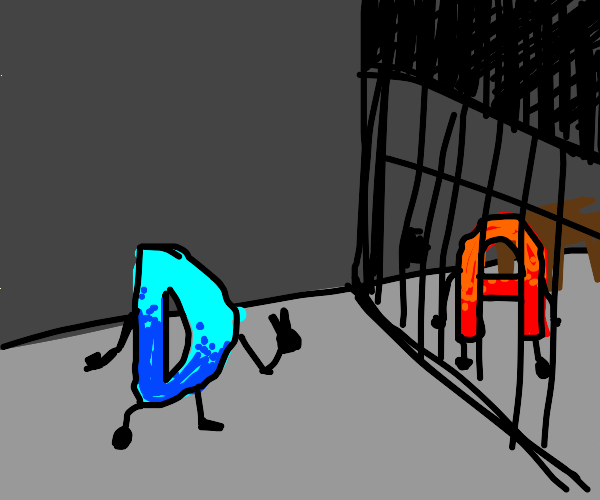The D peaces out and leaves A in jail