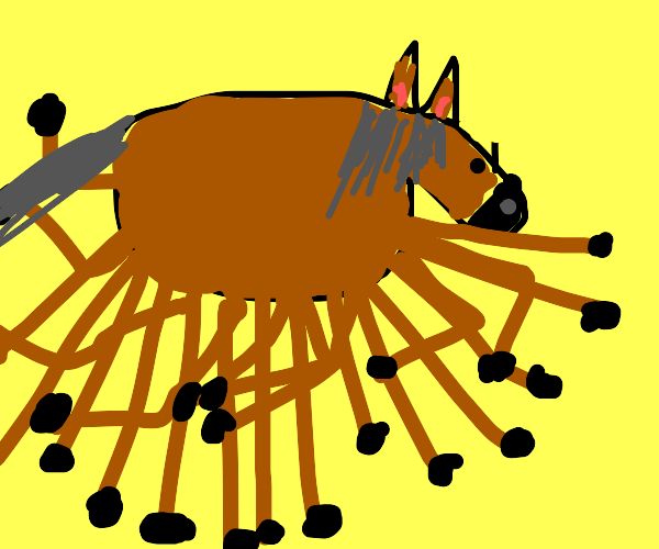 Horse with a impossible amount of legs