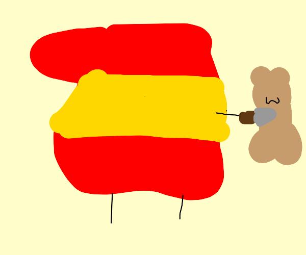 Spain killed a teddy bear