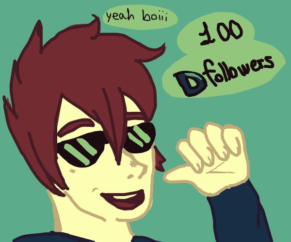 bragging about having 100 drawception follows