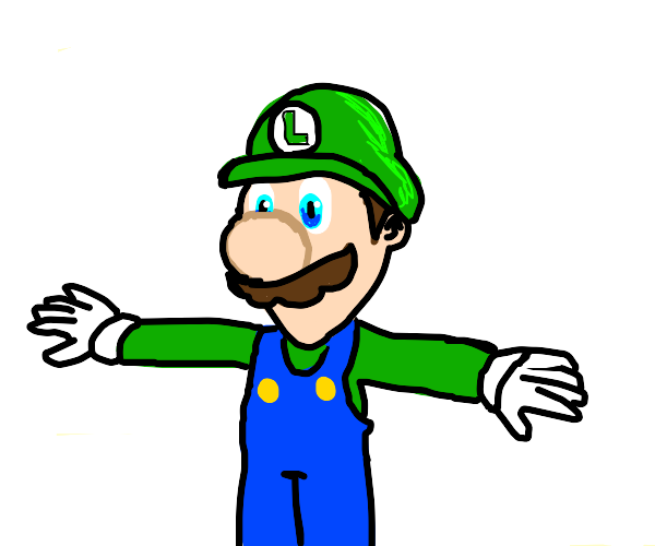 Luigi T-posing