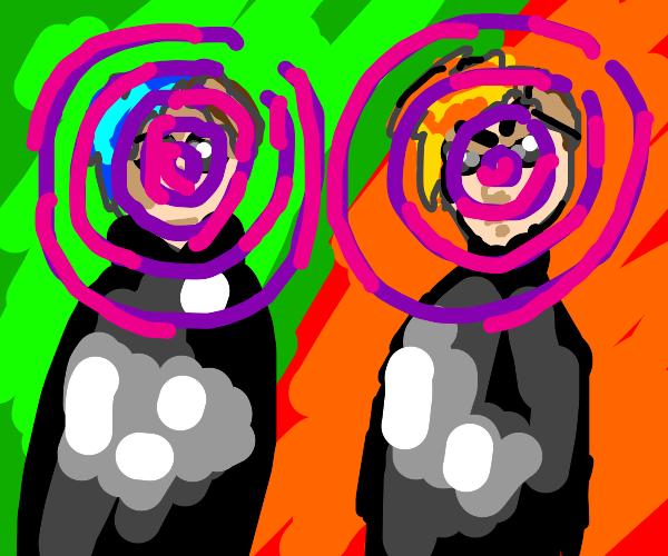 A good man and evil man hypnotize you
