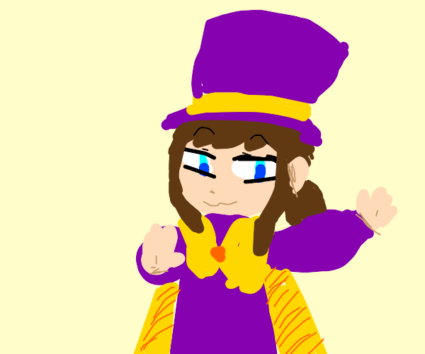 Hat Kid smugly dancing