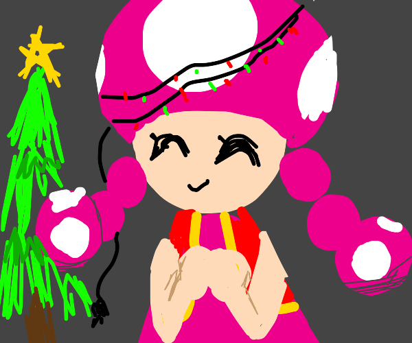 Mary Christmas but it's Toadette