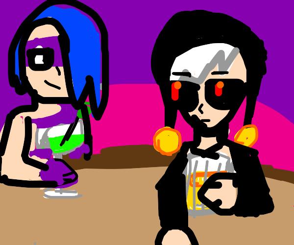 Melone (jjba) and Risotto (jjba) go clubbing