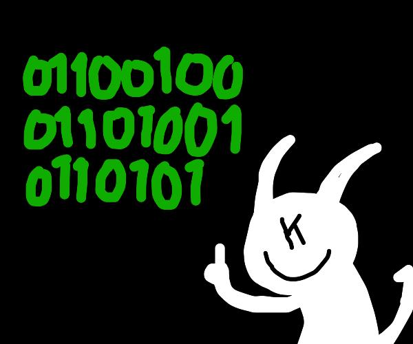CPU-Code demon tells you to die in binary