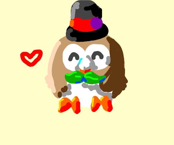 Owl wearing a Hat