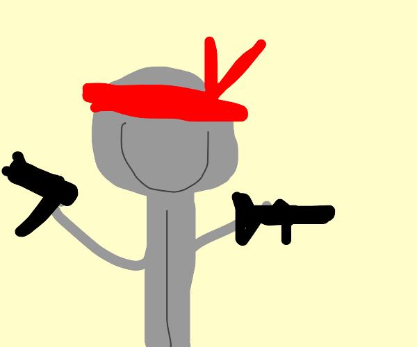 Rambo as a spoon