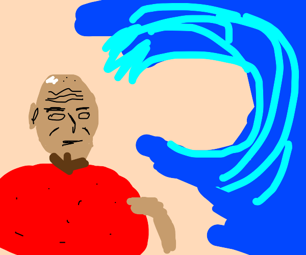 Tomato-eating Picard sees a tidal wave