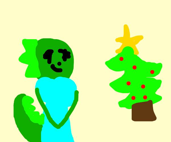 Lizard joins a Christmas death cult