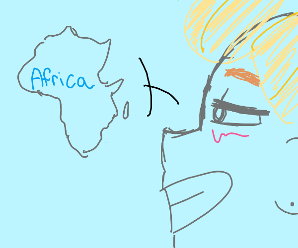 blond man says africa