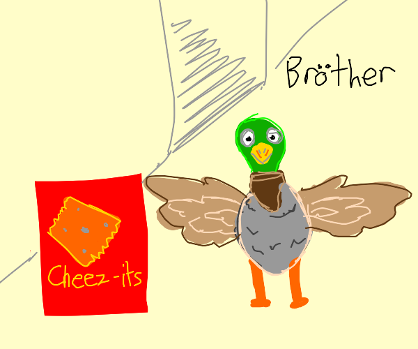 duck wants cheez-its