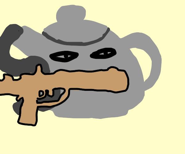 Spy tea pot