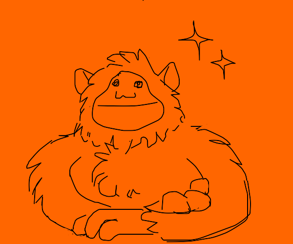 An orangeutan