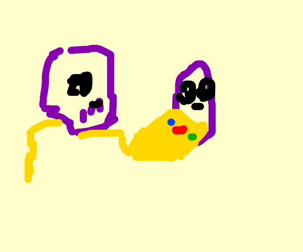 Thanos Fighting Beanos