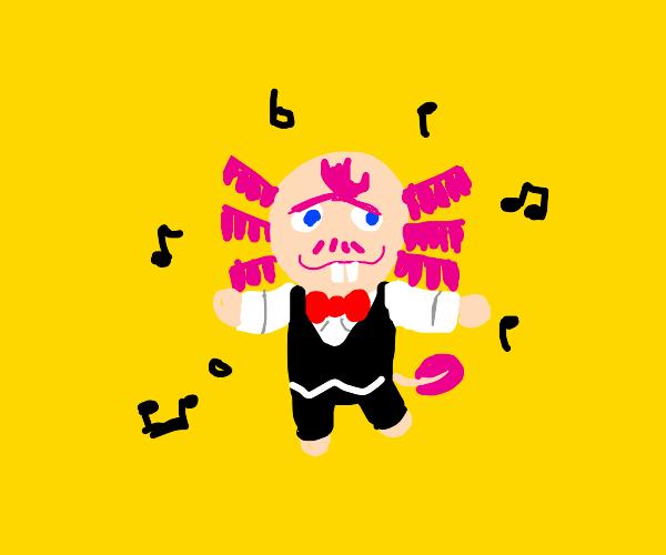 Mr. Shrunk the axolotl from Animal Crossing