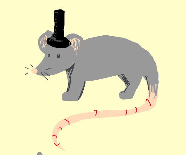 Mouse with a tophat
