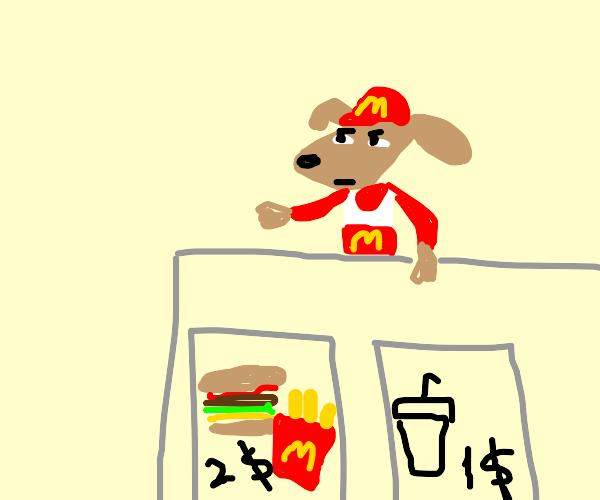 dog works at mcdonalds
