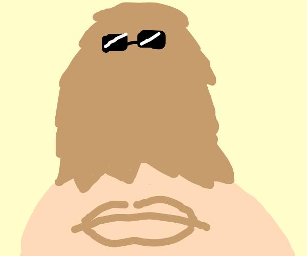 Cousin It is an upside-down beard