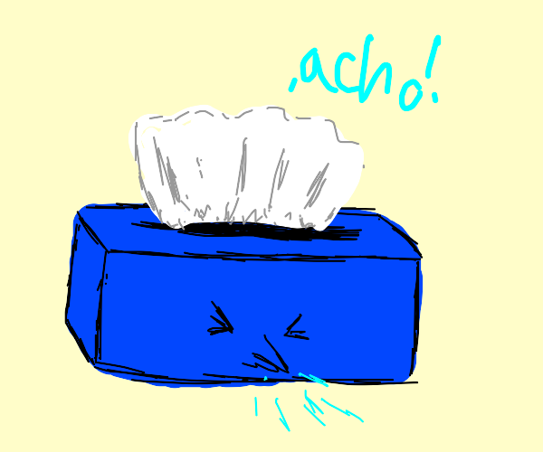 tissue box sneezing