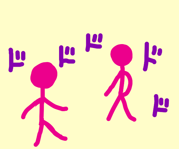 Oh you're approaching me but small pink guy