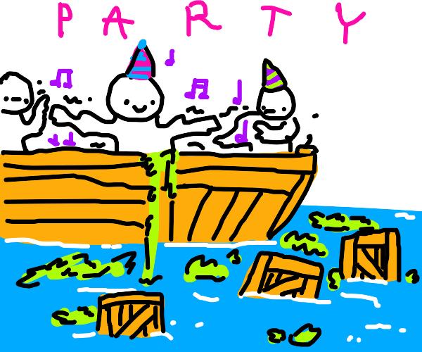 Boston Tea Party, but PARTY