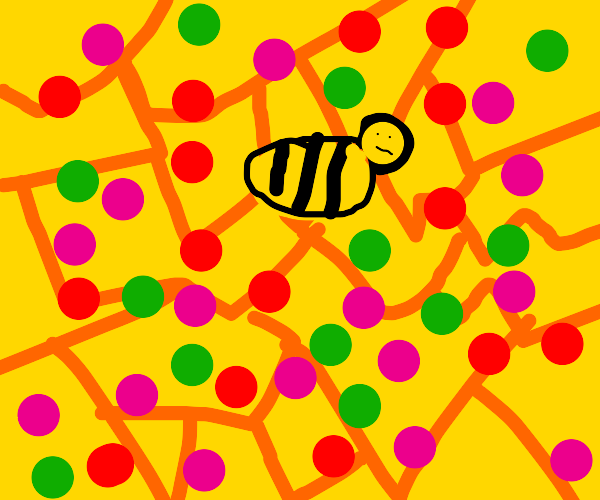 Inside the bedazzled bee hive