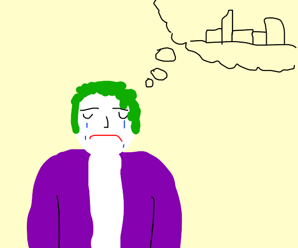 Joker is sad that we are a society