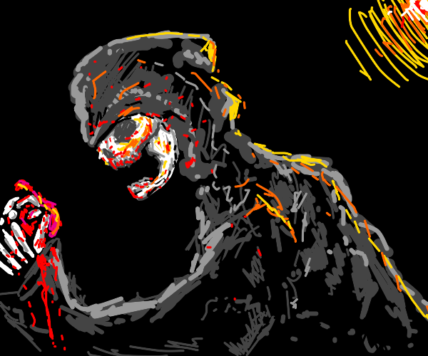 Grim Reaper eating fireworks