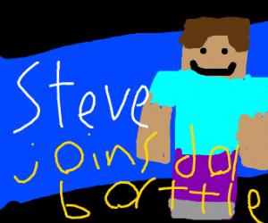 Steve minecraft joins smash bros